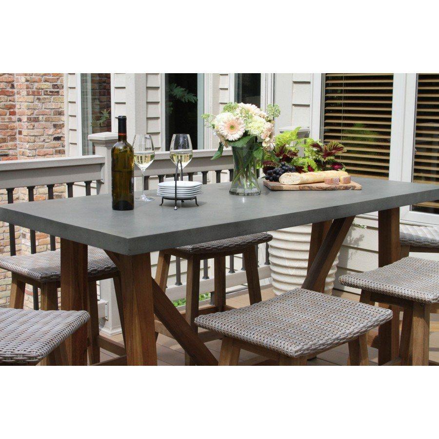 Outdoor interiors 7 piece teak wicker counter height - Outdoor interiors 7 piece patio set ...