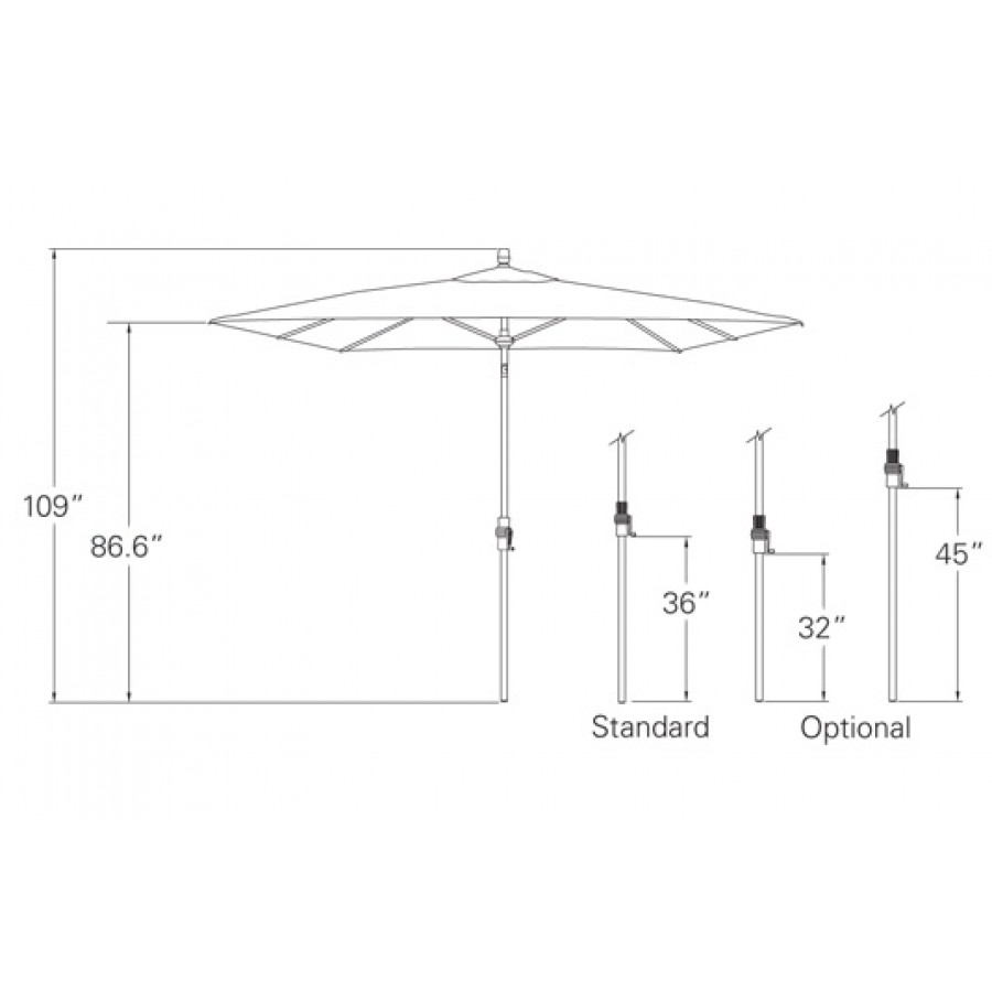 Treasure Garden 8 X 10 Rectangular Auto Tilt Umbrella