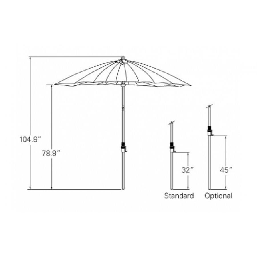 Treasure Garden 10u0027 Shanghai Collar Tilt Umbrella By Treasure Garden