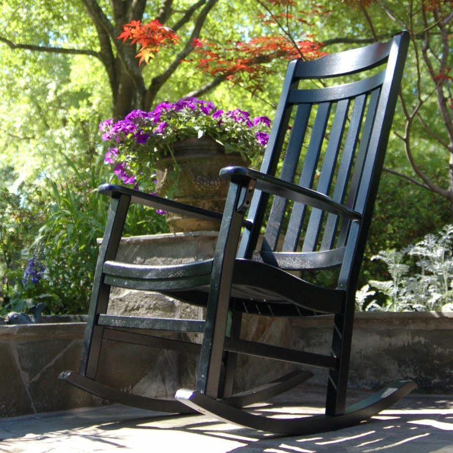 World S Finest Outdoor Rocker Painted Black