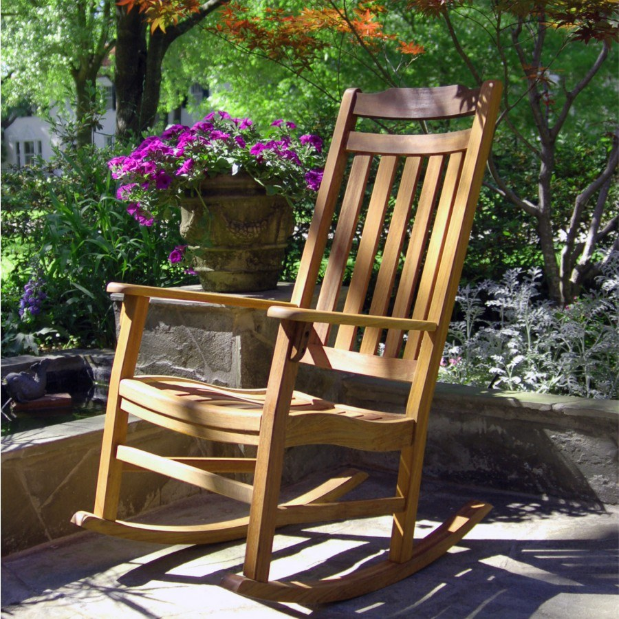 World S Finest Outdoor Rocker Natural Oil