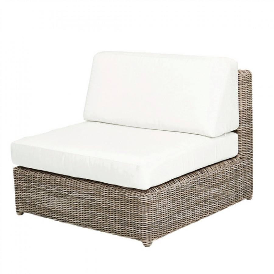 Sag Harbor Woven Armless Sectional Chair