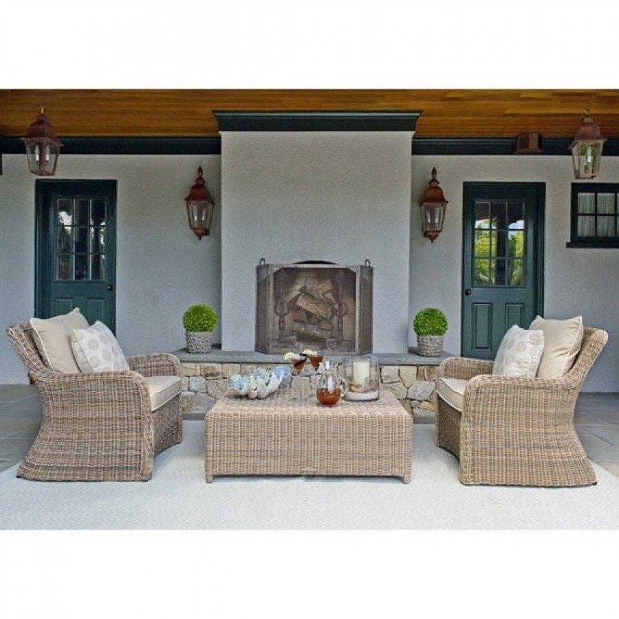 Kingsley Bate Sag Harbor Wicker Deep Seating Lounge Chair
