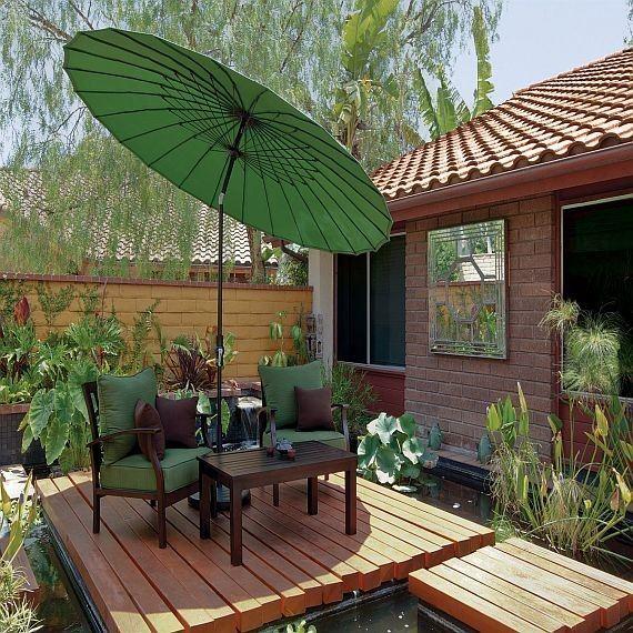 Treasure Garden 10\' Shanghai Collar Tilt Umbrella