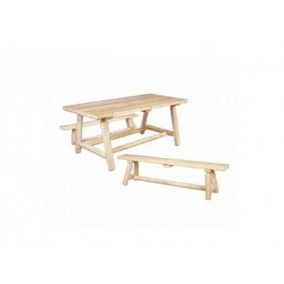 Rustic Natural Cedar Classic Cedar Farmer's Table w/ Benches  by Rustic Natural Cedar