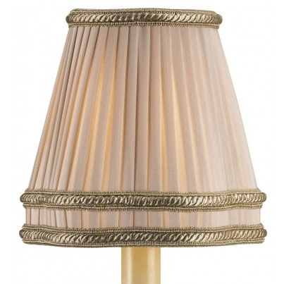 Currey & Company Beige Shantung Pleated Lamp Shade  by Currey & Company