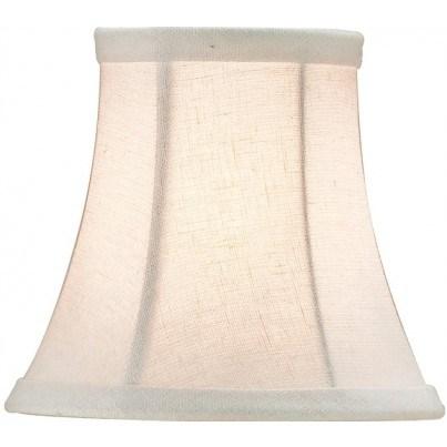 Currey & Company Bone Linen Shade, Small  by Currey & Company