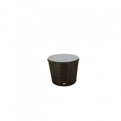 Source Outdoor Wave Wicker Side Table Round  by Source Outdoor