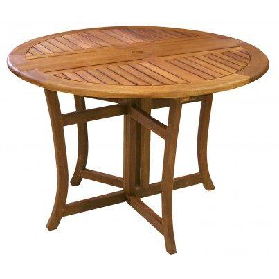 Outdoor Interiors Brazilian Eucalyptus Folding Table  by Outdoor Interiors