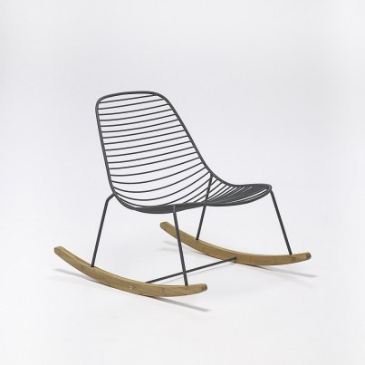 Sketch Metal Rocking Chair  by Houe