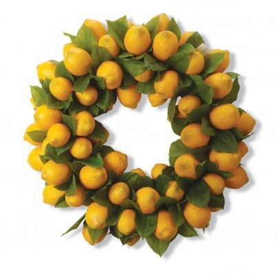 24 Inch Yellow Lemons Wreath  by Frontera Furniture Company