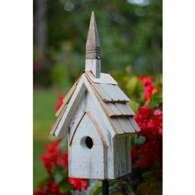 Heartwood Classic Birdhouse - Crackle White Finish  by Heartwood