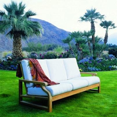 Kingsley Bate Nantucket Teak Deep Seating Sofa  by Kingsley Bate