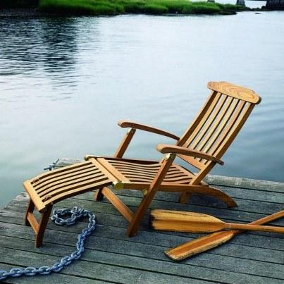 Kingsley Bate Steamer Teak Chair  by Kingsley Bate