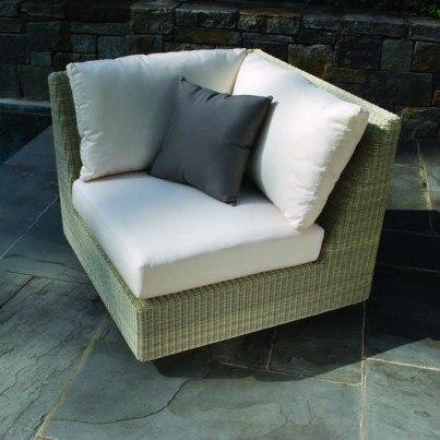 Kingsley Bate Westport Wicker Sectional-Corner Chair/Right Side  by Kingsley Bate