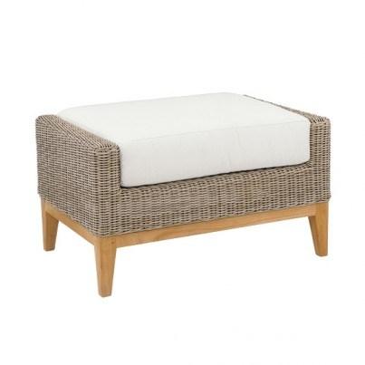 Kingsley Bate Frances Wicker Ottoman Cushion  by Kingsley Bate