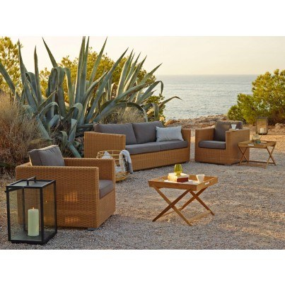 Cane-Line Chester, Lighthouse, and Amaze 7pc Seating Ensemble  by Cane-line