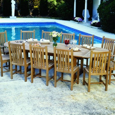 Kingsley Bate Classic and Essex Teak 13 Piece Dining Ensemble  by Kingsley Bate