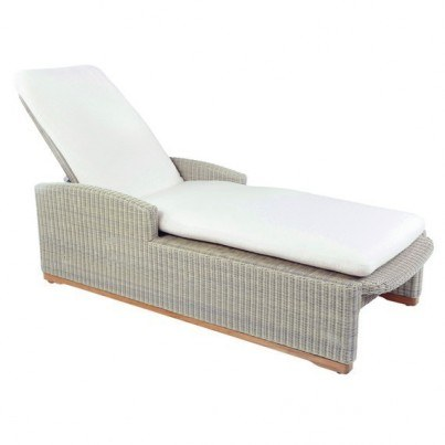 Kingsley Bate Westport Wicker Adjustable Chaise Lounge w/ Wheels  by Kingsley Bate