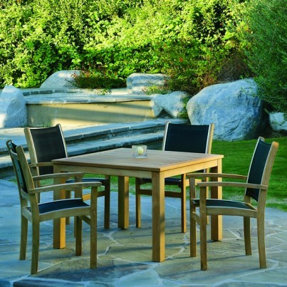 Kingsley Bate St. Tropez and Wainscott Teak 5 Piece Dining Ensemble  by Kingsley Bate
