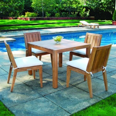 Kingsley Bate Mendocino Teak 5 Piece Dining Ensemble  by Kingsley Bate