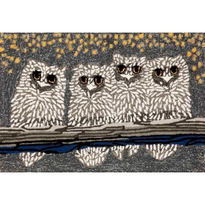 "Trans-Ocean Frontporch Owls Night Rug 24""X36""  by TransOcean"
