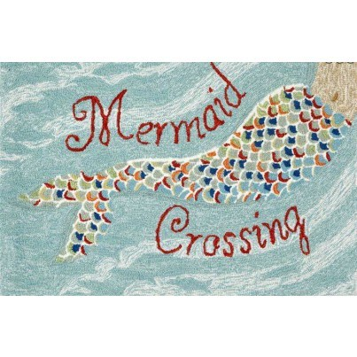 "Trans-Ocean Frontporch Mermaid Crossing Water Rug 20""X30""  by TransOcean"