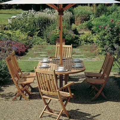 Barlow Tyrie Ascot Teak Folding Dining Side Chair  by Barlow Tyrie