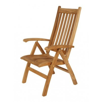Barlow Tyrie Ascot Teak Highbacked Reclining Chair  by Barlow Tyrie