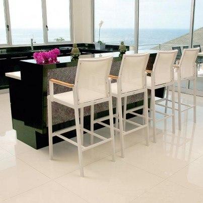 Barlow Tyrie Aura Aluminum High Dining Armchair  by Barlow Tyrie