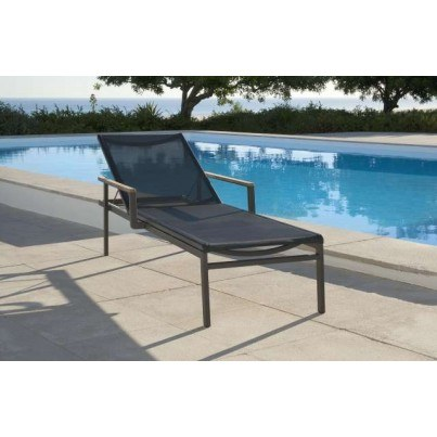 Barlow Tyrie Aura Aluminum Sling Chaise Lounge  by Barlow Tyrie
