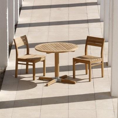 Barlow Tyrie Bermuda Teak Round Pedestal Dining Table  by Barlow Tyrie