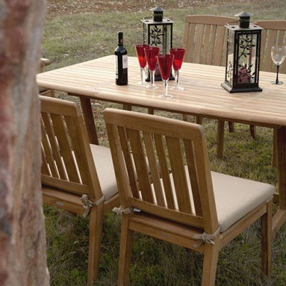 Barlow Tyrie Chesapeake Teak Dining Side Chair  by Barlow Tyrie
