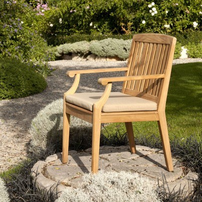 Barlow Tyrie Chesapeake Teak Dining Armchair  by Barlow Tyrie