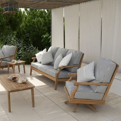 Barlow Tyrie Chesapeake Teak Seating Collection -Build Your Own Ensemble  by Barlow Tyrie