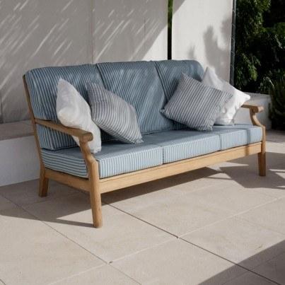 Barlow Tyrie Chesapeake Teak Deep Seating Sofa  by Barlow Tyrie
