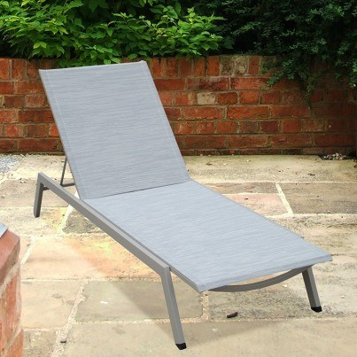 Barlow Tyrie Cayman Aluminum Sling Chaise Lounge  by Barlow Tyrie