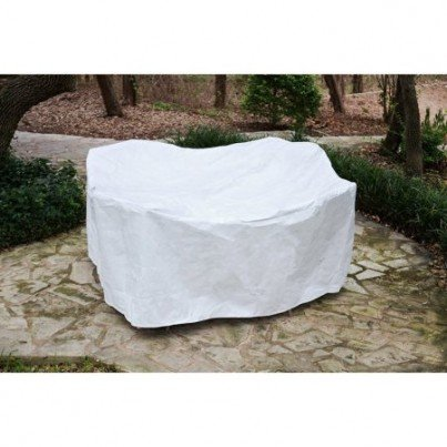 """Protective SupraRoos™ 36"""" Round Table Dining Set Cover - White  by Koveroos"""
