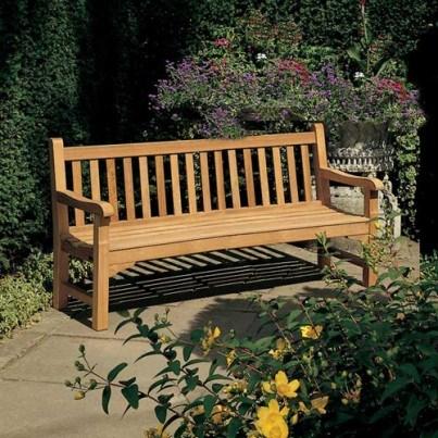 Barlow Tyrie Glenham Teak 6' Bench  by Barlow Tyrie