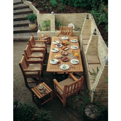 Barlow Tyrie Arundel and Felsted Teak 8pc Dining Ensemble  by Barlow Tyrie