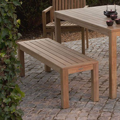 """Barlow Tyrie Linear Teak 51"""" Backless Bench  by Barlow Tyrie"""