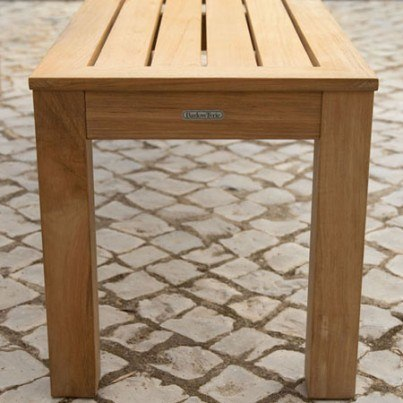 """Barlow Tyrie Linear Teak 61"""" Backless Bench  by Barlow Tyrie"""