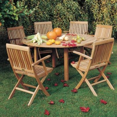 Barlow Tyrie Monaco Teak Folding Arm Chair  by Barlow Tyrie