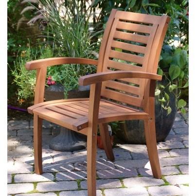 Outdoor Interiors Eucalyptus Luxe Arm Chair  by Outdoor Interiors