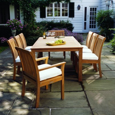 Kingsley Bate Chelsea and Wainscott Teak 9 Piece Dining Ensemble   by Kingsley Bate