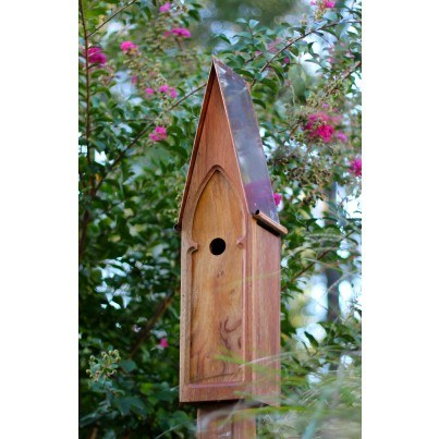 Heartwood American Classic - Mahogany/Brown Patina Copper Roof Birdhouse  by Heartwood