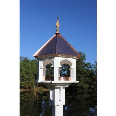 White cellular PVC/bright copper roof A