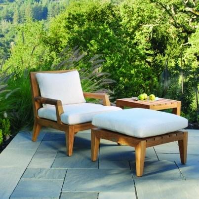 Kingsley Bate Mendocino Teak Deep Seating Lounge Chair  by Kingsley Bate
