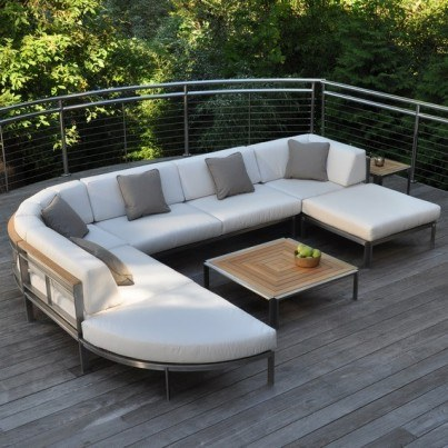 Kingsley Bate Tivoli Stainless Steel and Teak Seating Collection - Build Your Own Ensemble  by Kingsley Bate