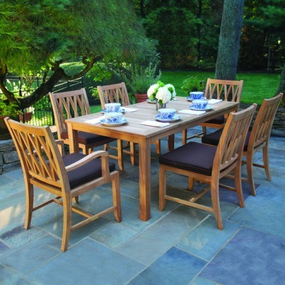 Kingsley Bate Somerset and Wainscott Teak 9 Piece Dining Ensemble  by Kingsley Bate
